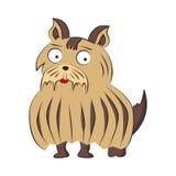 Ejemplo del perro de la raza del vector de Bruselas Griffon Sittind divertido del carácter del animal doméstico de la historieta  stock de ilustración