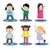 Ejemplo del personaje de dibujos animados de los niños - vector stock de ilustración