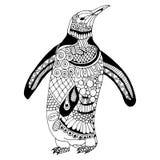 Ejemplo del pingüino stock de ilustración