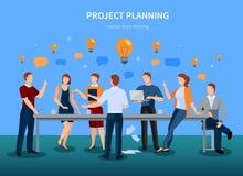 Ejemplo del planeamiento de proyecto libre illustration