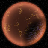 Ejemplo del planeta de la fantasía Imagen de archivo libre de regalías