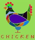 Ejemplo del pollo Foto de archivo libre de regalías