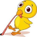 Pollo del bebé con la historieta del gusano stock de ilustración