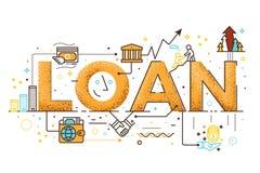 Ejemplo del préstamo personal stock de ilustración