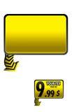 Ejemplo del precio o de la etiqueta engomada Foto de archivo