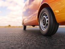 Ejemplo del primer 3d de Van wheel Imagen de archivo libre de regalías