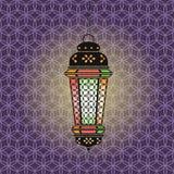 Ejemplo del Ramadán del vector con la linterna stock de ilustración