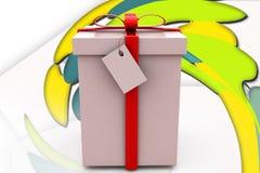ejemplo del regalo 3d Imágenes de archivo libres de regalías