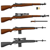 Rifle stock de ilustración
