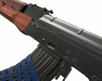 Ejemplo del rifle de asalto de Akm 3d Imagen de archivo libre de regalías