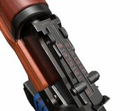 Ejemplo del rifle de asalto de Akm 3d Imagen de archivo
