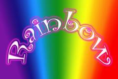 Ejemplo del símbolo del arco iris Imágenes de archivo libres de regalías