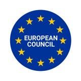 Ejemplo del símbolo del Consejo Europeo ilustración del vector