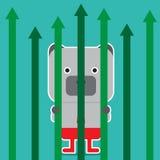 Ejemplo del símbolo del oso de la tendencia del mercado de acción Imagenes de archivo