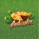 Ejemplo del sabor de la empanada de manzana de Vape en vector del estilo del extracto del triángulo stock de ilustración