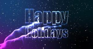 Ejemplo del saludo de la Navidad con buenas fiestas el mensaje stock de ilustración