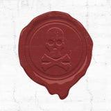 Ejemplo del sello de la cera Imagen de archivo libre de regalías