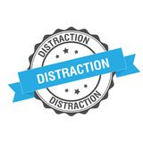 Ejemplo del sello de la distracción ilustración del vector