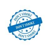 Ejemplo del sello del humo del ` t de Don stock de ilustración