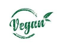 Ejemplo del sello del vector del vegano ilustración del vector