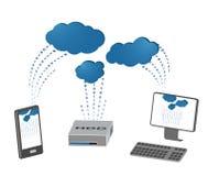 Ejemplo del servicio de la nube libre illustration