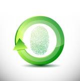 Ejemplo del software del reconocimiento de la huella dactilar stock de ilustración