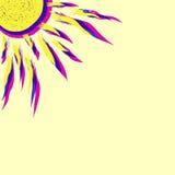 Ejemplo del sol del vector ilustración del vector