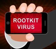 Ejemplo del Spyware criminal cibernético del virus de Rootkit 2.o ilustración del vector