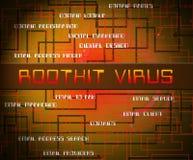 Ejemplo del Spyware criminal cibernético del virus de Rootkit 2.o stock de ilustración