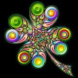 Ejemplo del St Patrick Shamrock Psychedelic Clover Vector stock de ilustración