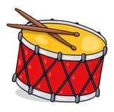 Ejemplo del tambor; Tambor aislado Fotos de archivo libres de regalías