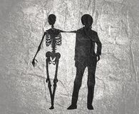 Ejemplo del tema de Halloween ilustración del vector