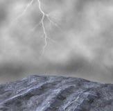 Ejemplo del tiempo de la tempestad de truenos de la lluvia torrencial Fotos de archivo