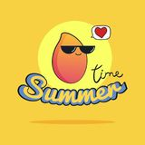 Ejemplo del tiempo de verano Personaje de dibujos animados lindo del mango Fotografía de archivo libre de regalías