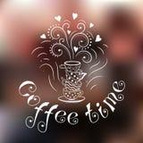 Ejemplo del tiempo del café ilustración del vector