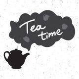Ejemplo del tiempo del té Imagenes de archivo