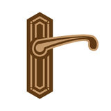 Ejemplo del tirador de puerta stock de ilustración