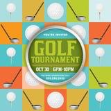 Ejemplo del torneo del golf ilustración del vector