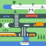 Ejemplo del tráfico de ciudad ilustración del vector