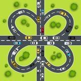 Ejemplo del tráfico de la carretera Imagen de archivo