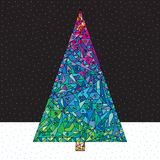 Ejemplo del vector del árbol de navidad Fotografía de archivo libre de regalías