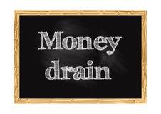 Ejemplo del vector del aviso de la pizarra del dren del dinero stock de ilustración