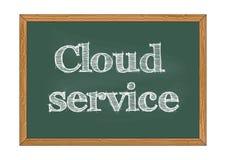 Ejemplo del vector del aviso de la pizarra del servicio de la nube libre illustration