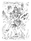 Ejemplo del vector del baile Lord Shiva, dios indio de hindú para Shivratri en la forma de Nataraja libre illustration