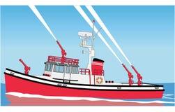 Ejemplo del vector del barco del fuego ilustración del vector