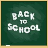 Ejemplo del vector del blackbourd de la escuela con las letras De nuevo a modelo de la escuela Foto de archivo libre de regalías