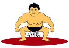 Ejemplo del vector del carácter del luchador del sumo Imágenes de archivo libres de regalías