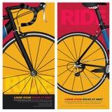 Ejemplo del vector del cartel de la bicicleta Imágenes de archivo libres de regalías