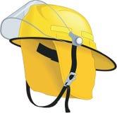 Ejemplo del vector del casco del fuego ilustración del vector