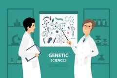 Ejemplo del vector con dos científicos en el laboratorio libre illustration